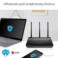 ASUS Dual-Band 3 x 3 AC1750 Wi-Fi 4-Port Gigabit Router (RT-AC66U_B1)