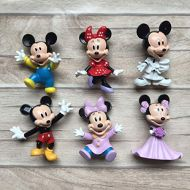 ATII Mickey Mouse Collectible Set Toy Figures | for Cake Topper Cake Decoration | As Model to Decorate The Car House or Desk (6PCS)