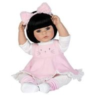 Adora Toddler Doll Kitty Kat Doll with Corduroy Dress and Furry Pink Kitty Headband