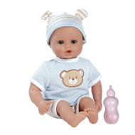 Adora PlayTime Baby Beary Blue Vinyl 13 Boy Weighted Washable Cuddly Snuggle Soft Toy Play Doll Gift Set with Open/Close Eyes for Children 1+ Includes Bottle