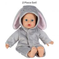 Adora Soft Baby Doll Funsie Onesie Baby Bunny 11 inch Machine Washable Mini Vinyl Doll with Cuddly Weighted Bean Body, Blue Eyes, Can Suck Its Thumb, has Fresh Baby Powder Scent