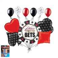 Anagram 11 pc Place Your Bets Cards and Dice Balloon Bouquet Poker Gambling Birthday by Jeckaroonie Balloons