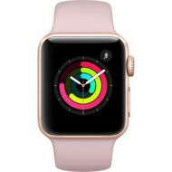 Apple Watch Series 3 - GPS - Rose Gold Aluminum Case with Pink Sand Sport Band - 38mm - MQKW2LLA (Refurbished)