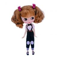 BLYTHE 1/6 BJD Doll is Similar to Neo Blythe, 4-Color Changing Eyes Matte Face and Ball Jointed Body, 12 Inch Customized Dolls Can Changed Makeup and Dress DIY, Nude Doll Sold Exclude Clo