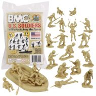BMC Toys BMC Marx Plastic Army Men US Soldiers - Red 31pc WW2 Figures - Made in USA