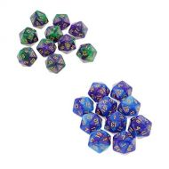 Baoblaze 20x D20 Polyhedral Dice Digital Dies Table Board Game Toy for Gambling Lover