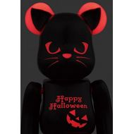 Medicom Toy Bearbrick BE@RBRICK 400% 2016 Halloween Black Cat Red light figure
