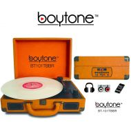 Boytone BT-101TBWT 5 in 1 Briefcase Record Player AC-DC Built in Rechargeable Battery, With 2 Stereo Speakers 3-speed 334578, LCD Display, FM Radio, USBSD Slot, AUX + MP3, Encod