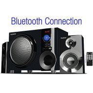 Boytone BT-210FD, Ultra Wireless Bluetooth Main unit, Powerful Sound with Powerful Bass System 30 watt, Excellent Quality Clear Sound & FM radio, with Remote Control Aux Port, (Cer