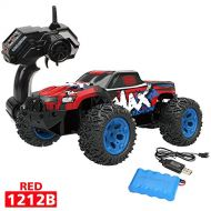 Brand: Gbell Gbell 1:12 Off-Road RC Monster Truck Car Vehicle Toys- 2WD 2.4G Remote Control High Speed RTR RC SUV Pickup Car Buggy Toy Birthday for Boys Kids 8-15 Years Old (Black)