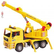 Bruder Toys MAN Yellow Crane Truck with 360-Degree Swiveling Crane | 02754