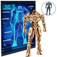 Incredibuilds IncrediBuilds Pacific Rim Uprising Gipsy Avenger Poster and 3D Wood Model Kit - Build, Paint and Collect Your Own Wooden Model - Great for Kids and Adults, 12+ - 6 12 h