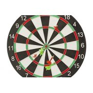 CHH 2018 16.25 Inch Standard Dart Board Pub Game-Black/White/Red/Green