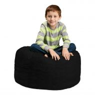 Chill Sack Bean Bag Chair: Large 2 Memory Foam Furniture Bean Bag - Big Sofa with Soft Micro Fiber Cover - Navy