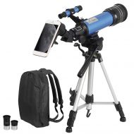 ZENY Telescope 70mm Aperture 400mm AZ Mount Astronomical Refractor Telescope for Kids Beginners - Portable Travel Telescope with Carry Bag, Smartphone Adapter