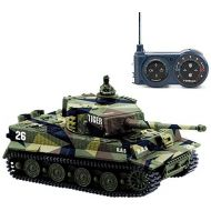 Cheerwing 1:72 German Tiger I Panzer Tank Remote Control Mini RC tank with Sound, Rotating Turret and Recoil Action When Cannon Artillery Shoots