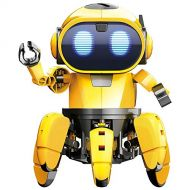 Choosebuy Christmas Interactive Smart Robot Toy, Infrared Senses Mechanical Power Explore Walking Smart Robot DIY Playful Gifts for Kids (Yellow)