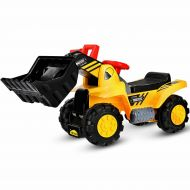 Costway Kids Toddler Ride On Excavator Digger Truck Scooter w Sound & Seat Storage Toy