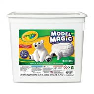 Crayola 57-4400 Model Magic Modeling Compound, 2-lb. Bucket, White, Four 8-oz. Pouches, Case of 2 Boxes