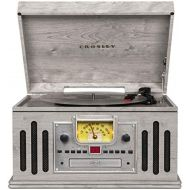 Crosley CR704B-GY Musician 3-Speed Turntable with Radio, CD/Cassette Player, Aux-in and Bluetooth, Gray