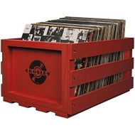 Crosley AC1004A-RE Record Storage Crate Holds up to 75 Albums, Red