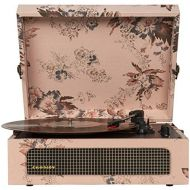 Visit the Crosley Store Crosley CR8017A-FL Voyager Vintage Portable Turntable with Bluetooth Receiver and Built-in Speakers, Floral