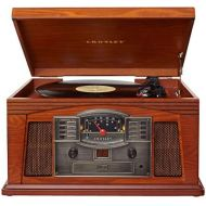 [아마존베스트]Crosley CR42D-PA Lancaster 3-Speed Turntable with Radio, CD/Cassette Player, Aux-in and Bluetooth, Paprika