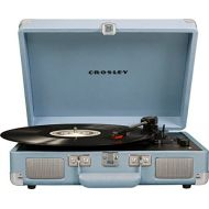 [아마존베스트]Crosley Cruiser Deluxe Vintage 3-Speed Bluetooth Suitcase Turntable, Tourmaline