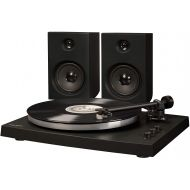 Crosley T150A-BK 2-Speed Bluetooth Turntable System with Stereo Speakers - Black