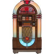 Crosley Slimline Full Size CD Jukebox with Bluetooth and Percolating Bubble Tubes - Holds 80 CDs