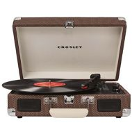 Crosley CR8005A-TW Cruiser Portable 3-Speed Turntable, Tweed