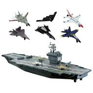 DARON WORLDWIDE Electronic 31 inch Aircraft Carrier with 6 Modern Planes