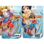 DC Super Hero Girls Wonder Woman with Magic Lasso Action Doll + Supergirl with Cape Super Hero 6 High Figures 2-Pack