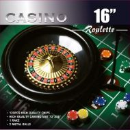 Da Vinci 16-Inch Roulette Wheel Game Set with 120 11.5-Gram Chips, Full Size 3x6 Felt Layout, and Rake