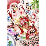 Stained Art Disney bouquet toss DSG-500-438 of 500 piece happy tightly (japan import)