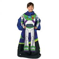 Disney Pixar Disney-Pixars Toy Story, Being Buzz Youth Comfy Throw Blanket with Sleeves, 48 x 48, Multi Color