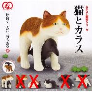 Epoch Capsule Friends Animal Series cat and crow two Assortment