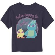Fifth Sun Toy Story Toddlers 4 Ducky & Bunny Feelin Happy T-Shirt