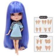 Fortune Days Toys Store Dream fairy ICY dolls Fortune Days Toys 12 inch nude doll with natural skin and small breast joint body like blythe. (BL72166208, 30cm)
