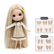 Fortune Days Toys Store Dream fairy ICY dolls Fortune Days Toys 12 inch nude doll with natural skin and small breast joint body like blythe. (280BL90164006, 30cm)