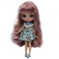 Fsolis 1/6 BJD Doll is Similar to Neo Blythe, 4-Color Changing Eyes Matte Face and Ball Jointed Body, 12 Inch Customized Dolls Can Changed Makeup and Dress DIY, Nude Doll Sold Exclude Clo