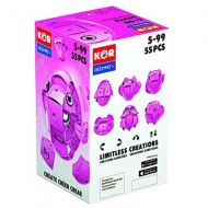 GEOMAG Geomag Kor Egg - Pink - 55 Piece Creative Magnet Playset - Swiss Made - Part of Geomags World Famous Award Winning Product Line - Ages 5 and Up