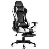 Giantex Gaming Chair Racing Style High Back Ergonomic Office Chair Executive Swivel Computer Desk Chair Height Adjustable Task Chair Reclining with Lumbar Support, Headrest and Foo