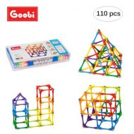 Goobi 110 Piece Construction Set Building Toy Active Play Sticks STEM Learning Creativity Imagination Children's 3D Puzzle Educational Brain Toys For Kids Boys And Girls With Instr