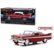 GreenLight Collectibles 1958 Plymouth Fury Red Christine (1983) Movie 124 Diecast Model Car by Greenlight 84071