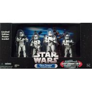 Hasbro Toys Star Wars Exclusives Clone Trooper Troop Builder 4-Pack Action Figure Set [Battle Damaged]
