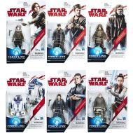 Hasbro Toys Star Wars The Last Jedi Force Link Orange Series Wave 2 Set of 6 Action Figures
