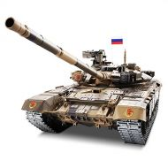 HengLong Heng Long Pro Edition Remote Control 2.4Ghz 116 Scale Russian T-90 RC Main Battle Tank with Metal Gear and Tracks, Airsoft RC Tank