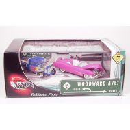 Hot Wheels 2002 Limited Edition Woodward Ave Pink 53 Cadillac Biarritz & Blue 32 Ford Pickup