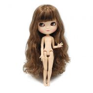 ICY Doll The 30.5cm ICY Nude Doll,can Change The faceplate and Clothes for DIY Maker,19 Joint Body Doll is Suitable for Girls Present and Best Gift. (Brown)